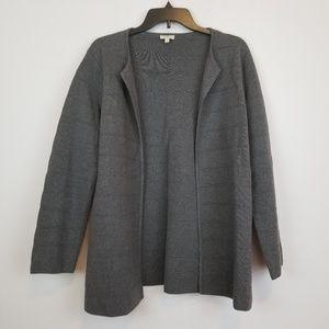 Talbots gray knit open front cardigan size Medium